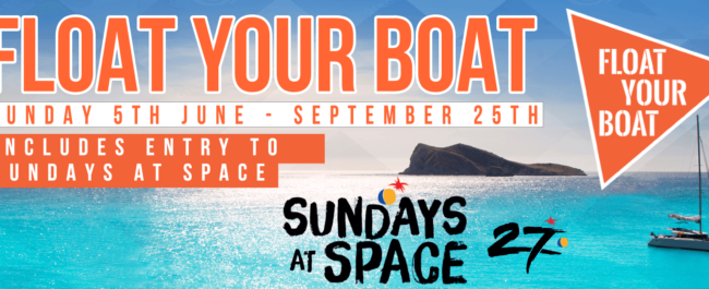 Float Your Boat All aboard the Official Boat Party for Sundays at Space!